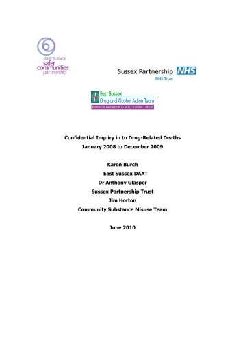 Confidential Inquiry into Drug Related Deaths 2010 - East Sussex ...