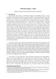 OSH Status Report - China - Asia Monitor Resource Center