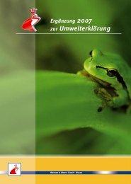 Ergänzung 2007 zur Umwelterklärung - Werner & Mertz GmbH