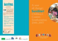 Sure Start Annual Report 2006-07 - Young Southampton