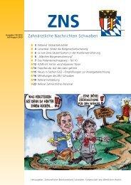ZNS Ausgabe 7-8/2013 ist online - Zahnärztlicher Bezirksverband ...