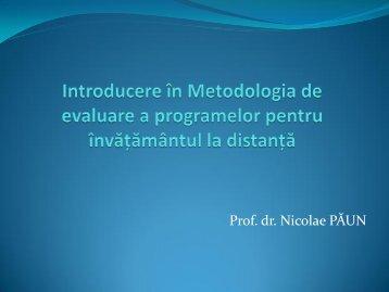 Prof. dr. Nicolae PĂUN - ARACIS