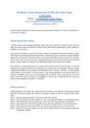 Analyse d'une séquence du film de Jean Vigo : L ... - Ecole des images