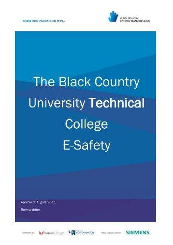 The Black Country University Technical College E-Safety