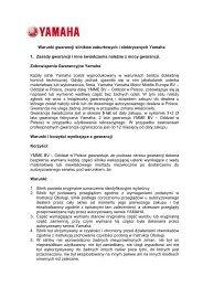 Warunki gwarancji (PDF) - Yamaha Motor Europe