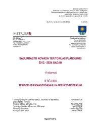 Teritorijas izmantošanas un apbūves noteikumi - Saulkrasti