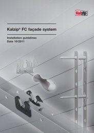 Kalzip® FC façade system