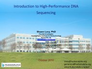 Introduction to High-Performance DNA Sequencing - Vanderbilt ...