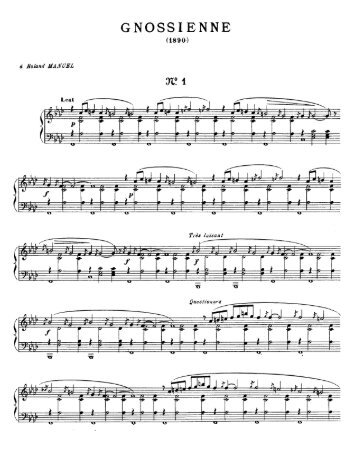 Page 1 GNOSSIENNE (1890) d Roland MANUEL 31? 1 Lent d /_\ Ä ...