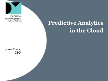 Predictive Analytics in the Cloud - Predictive Analytics World