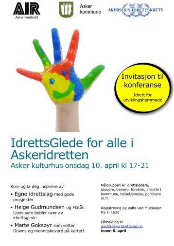 Program og invitasjon integreringskonferanse 10. april 2013