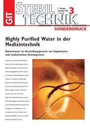 Highly Purified Water in der Medizintechnik - werner-gmbh.com