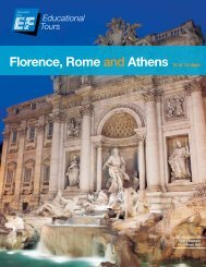 Florence, Rome and Athens 10 or 13 days - EF Educational Tours