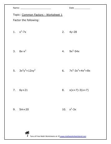 Printables Math Worksheets Land distance formula worksheet five pack math worksheets land common factors land