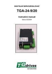 TGA-24-9/20 Instrukční manuál - TG Drives