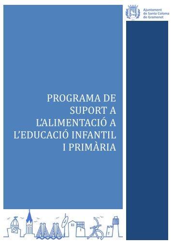 Programa de suport a l'alimentació a l'educació infantil i primÀria