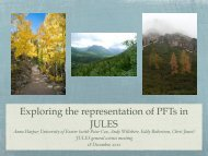 Exploring the representation of PFTs in JULES