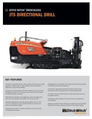 JT5 DIRECTIONAL DRILL - Ditch Witch
