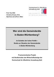Wer sind die Gemeinderäte in Baden ... - Hochschule Kehl