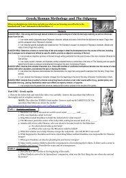 Greek/Roman Mythology and The Odyssey