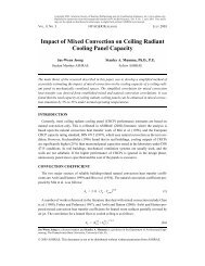 Impact of Mixed Convection on Ceiling Radiant Cooling Panel - DOAS