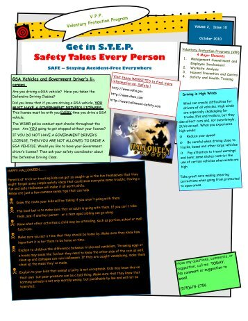Get in S.T.E.P. Safety Takes Every Person