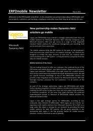 AX2mobile Newsletter August 2009 - ERP2mobile