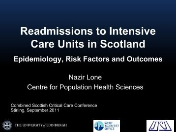 Readmissions to Intensive Care Units in Scotland - The Scottish ...
