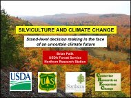 SILVICULTURE AND CLIMATE CHANGE