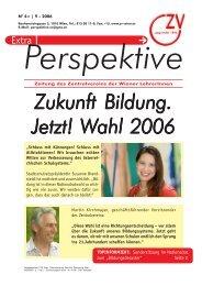 Perspektive Extra - 09/2006 - Zentralverein der Wiener Lehrerschaft