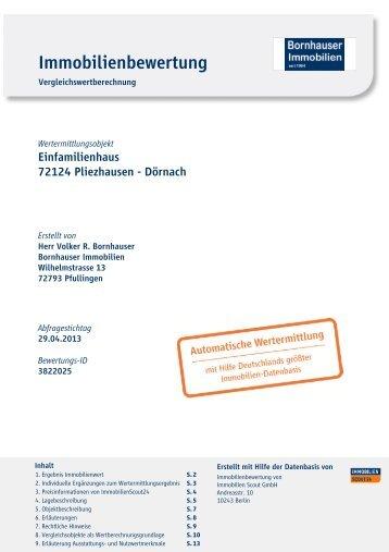 Immobilienbewertung - Bornhauser Immobilien Reutlingen