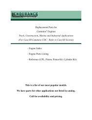 Endurance Power Products Inc - Cummins Engine Parts Catalog