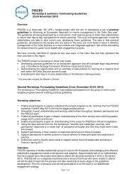 Workshop II summary - WWF UK