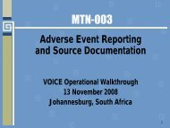 Adverse Event Reporting and Source Documentation