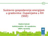 Sustavno gospodarenje energijom u gradovima i ... - MojaEnergija