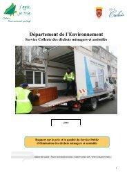 Rapport 2010 sur le prix et la qualité du service ... - Ville de Calais