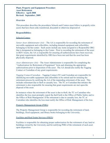 completion of procedures guidance and template office of the
