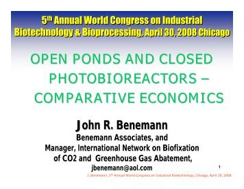 OPEN PONDS AND CLOSED PHOTOBIOREACTORS ... - planktoleum