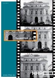 TaxARTIST 2/11 - HHP - Hammerschmied Hohenegger und Partner