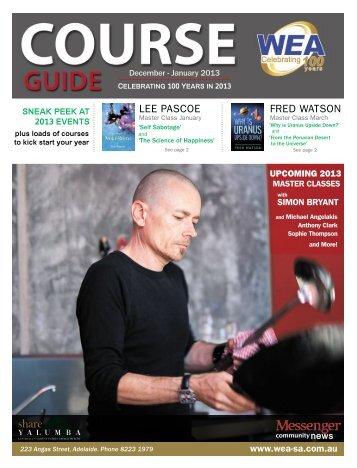 printable course guide - WEA