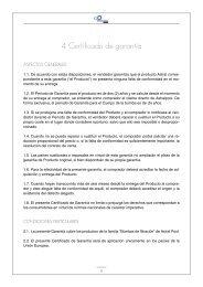 4. Certificado de garantía - VitaPiscine