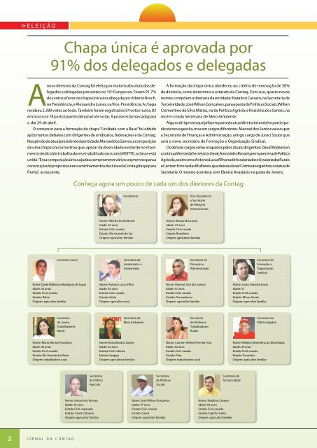 congresso consolida unidade em torno de um sindicalismo ... - Contag