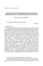 kerajaan imam: teologi kerajaan allah dan implikasinya bagi ... - SAAT