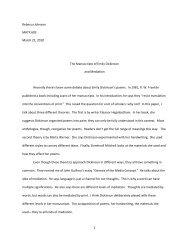 1 Rebecca Johnson MATX 603 March 22, 2010 The Manuscripts of ...