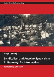 Syndicalism and Anarcho-Syndicalism in Germany - Institut für ...