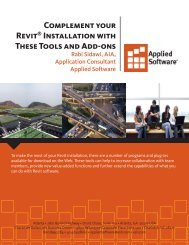 Complement your Revit® Installation with These ... - Applied Software
