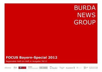FOCUS Bayern-Special 2012 - FOCUS MediaLine