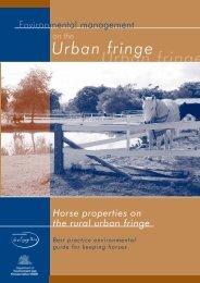 Horse properties on the rural urban fringe - Horses, Land & Water
