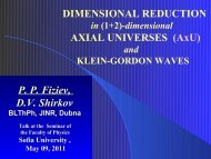DIMENSIONAL REDUCTION AXIAL UNIVERSES (AxU) P. P. Fiziev ...