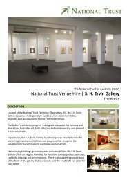 National Trust Venue Hire   S. H. Ervin Gallery - NSW